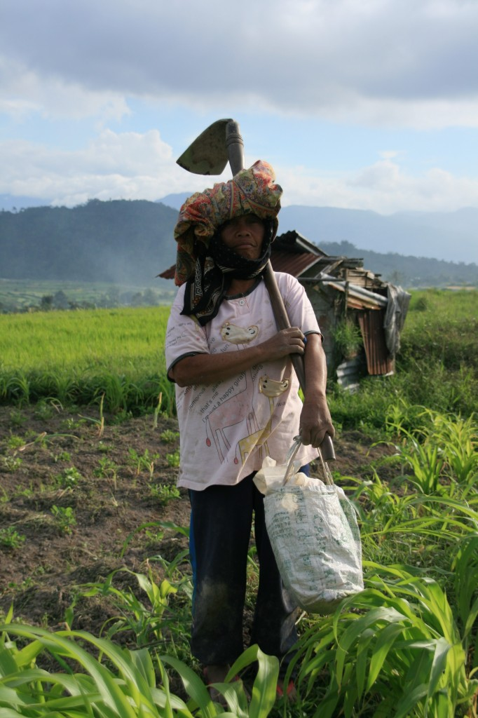 Field worker in Padang, Sumatra